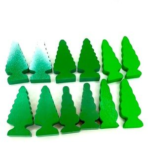 12 Piece Lot of Trees for Wooden Town Playset